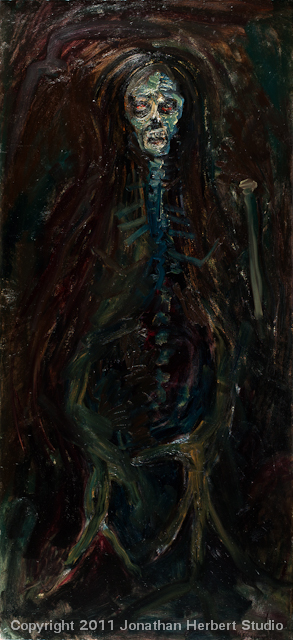 Dead Suzanne 11o2 oil on linen 78 x 36 inches
